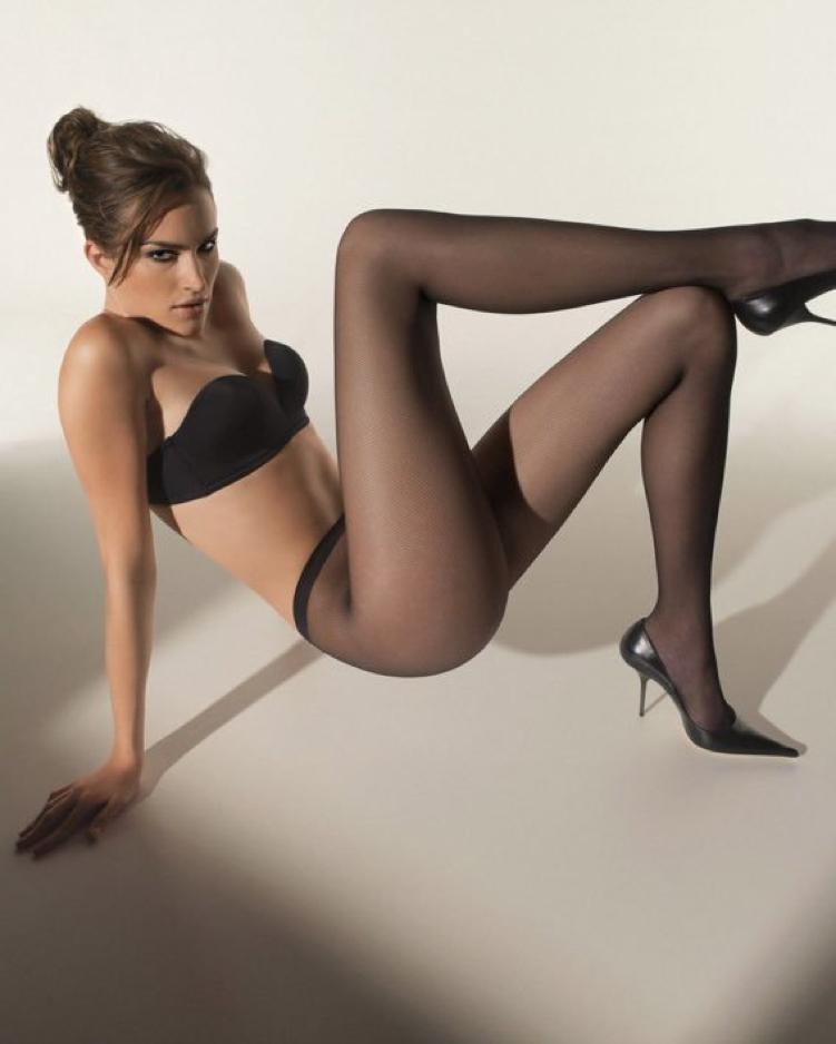 Sexy Black Nylon Thigh High Stockings
