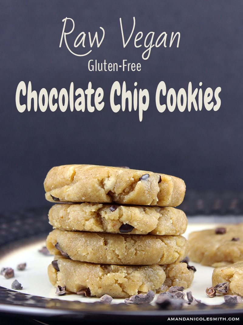 Raw vegan chocolate chip cookies raw vegan pinterest vegan raw vegan chocolate chip cookies made with made from a few simple whole food ingredients these babies are no bake gluten free dairy free and oh so forumfinder Gallery