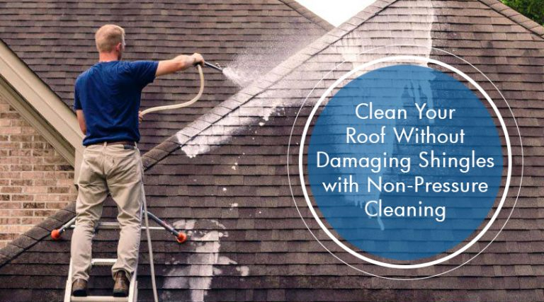 Clean Your Roof Without Damaging Shingles With Non Pressure Cleaning Shingling Roof Shingles Roof