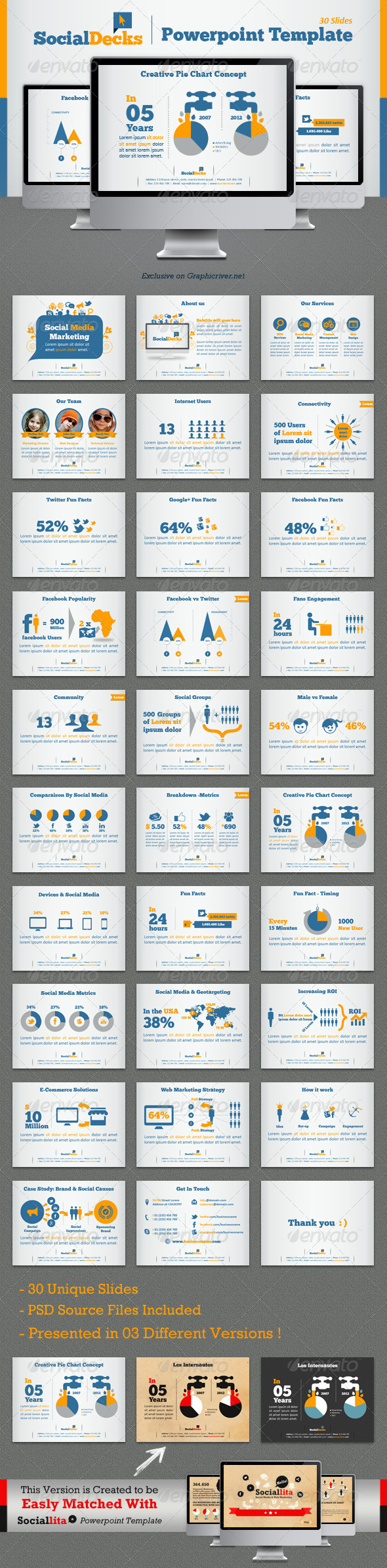 Socialdecks powerpoint template creative powerpoint template socialdecks powerpoint template alramifo Image collections