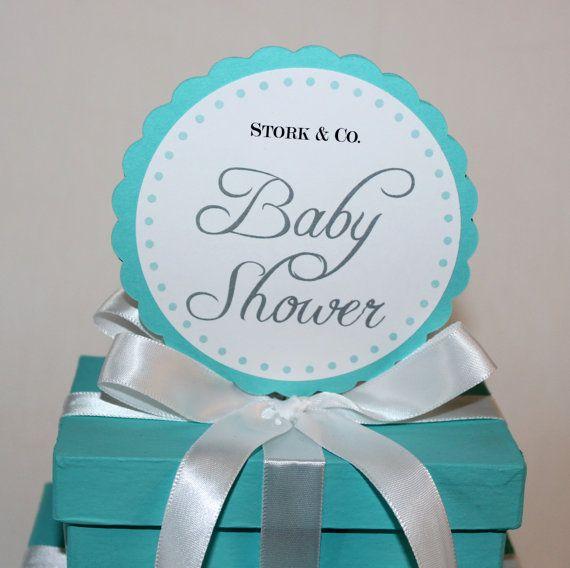 Baby Shower Centerpieces  Tiffany Co Inspired Box  by LovinglyMine, $17.00