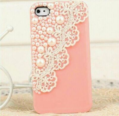 Pearl Lace Phone Case Diy Phone Case Lace Phone Case Cute Phone Cases