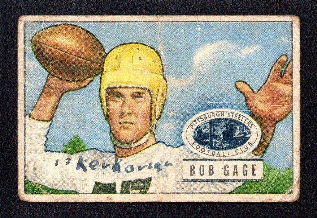 VINTAGE BOB BOBBY GAGE STEELERS clemson tigers 1951 BOWMAN