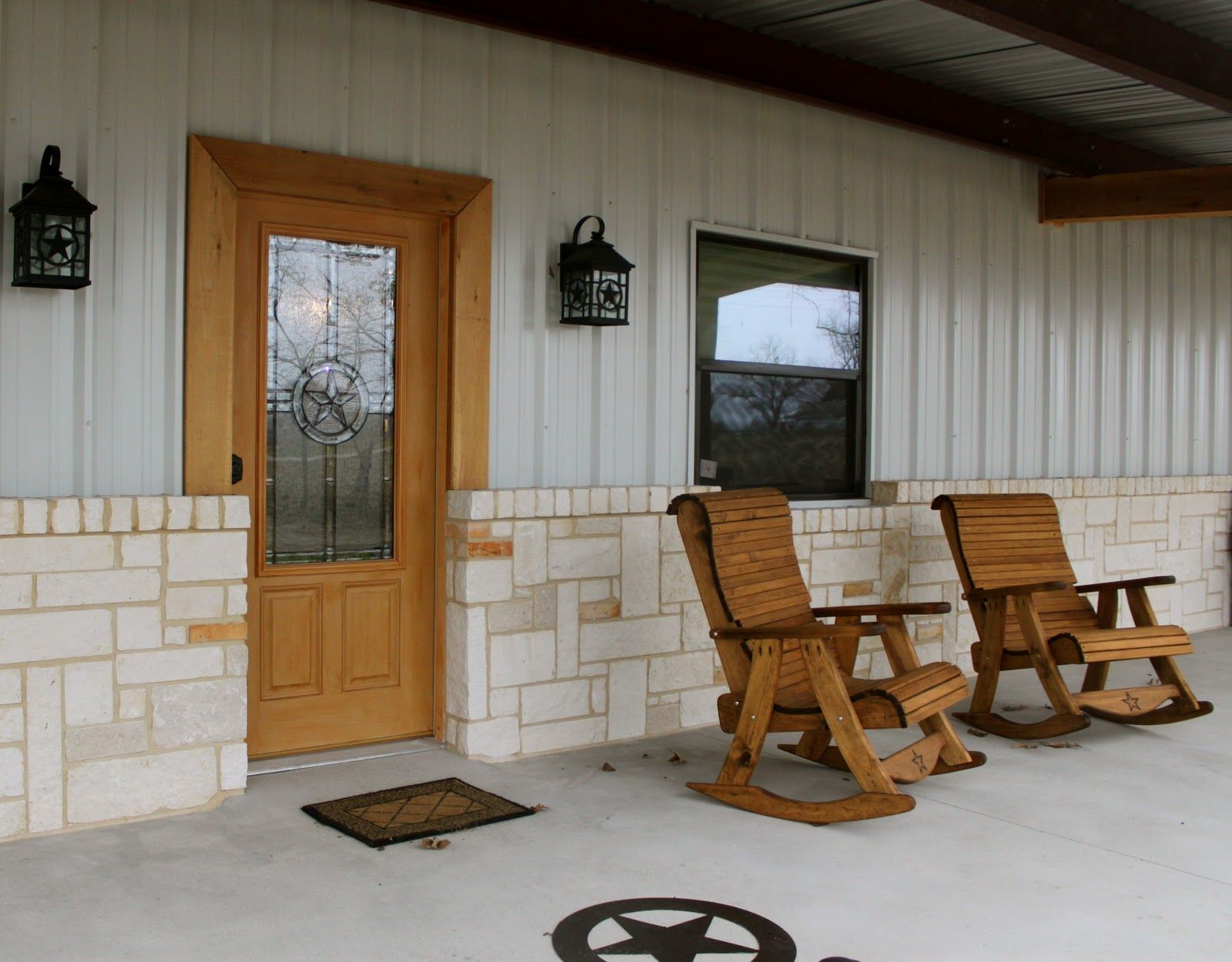 Barndominium house plans my sister fannie just completed for Rustic floors of texas