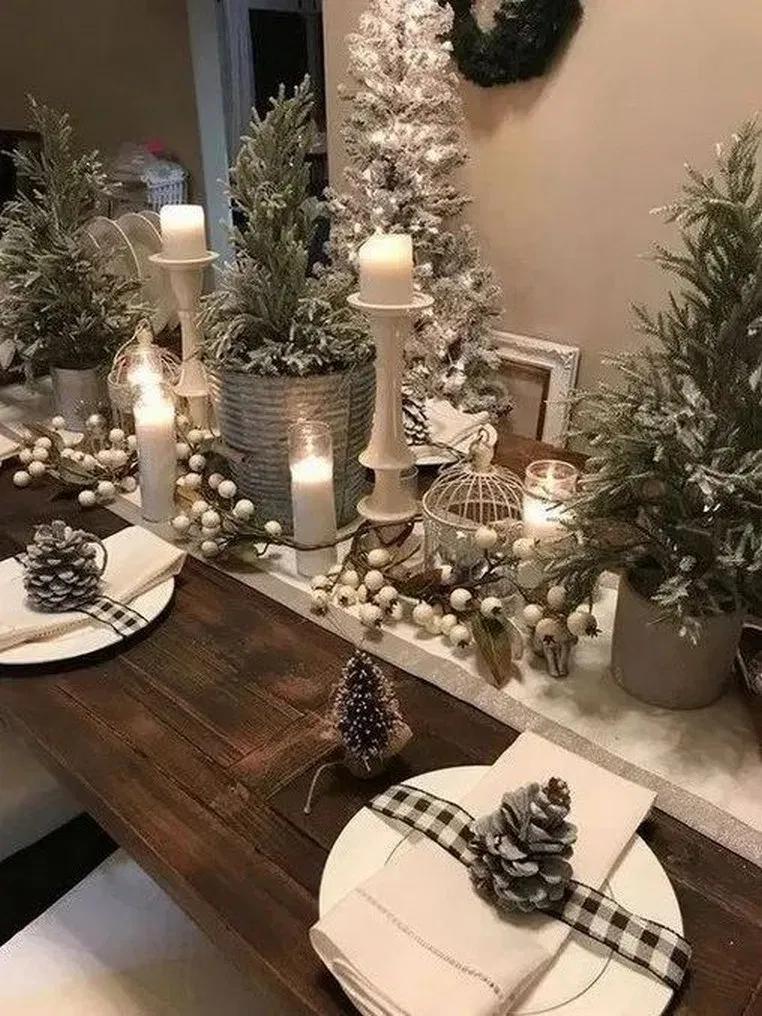23 Inspiring Christmas Decoration Ideas For Holiday Event Homedecoridea Christmas Table Decorations Christmas Table Centerpieces Indoor Christmas Decorations