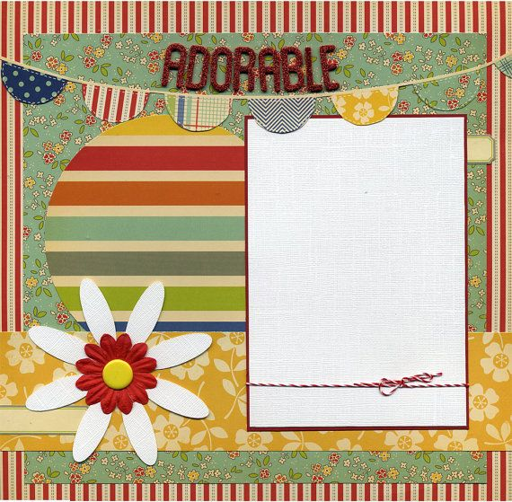 12x12 premade scrapbook page was created using a mix of coordinating printed cardstock textured cardstock