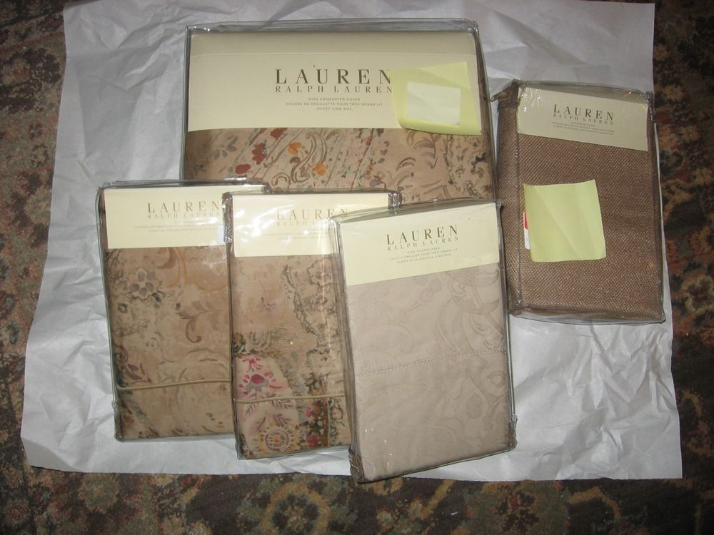 Ralph Lauren Verdonnet King Duvet Comforter Cover 8pc Set 1600