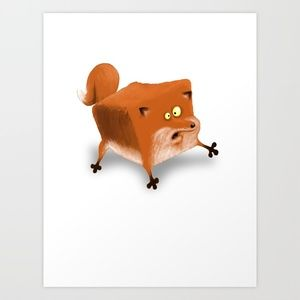 Box in a Fox Art Print by Billy Allison