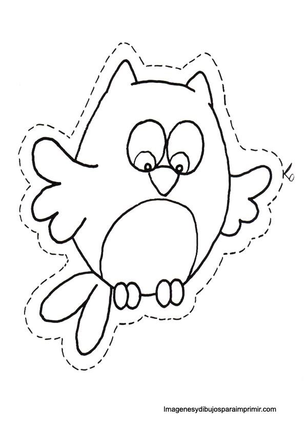 animales para colorear y recortar  Aguja Mgica  Pinterest  Owl