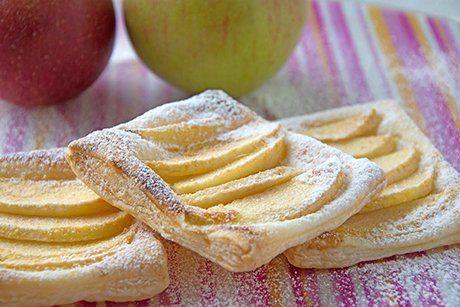Blätterteig mit Apfel - Rezept