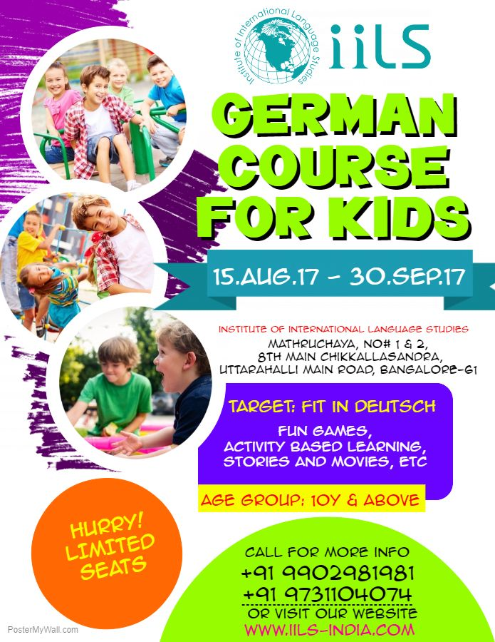 9b72263ad IILS-India is conducting German language course for kids in ...