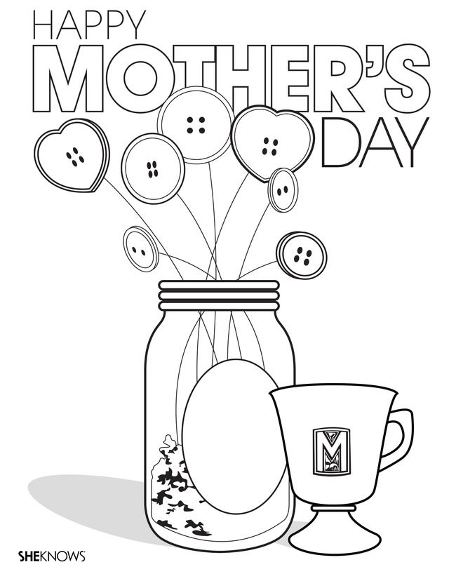Printable Mothers Day Coloring Pages That Make For The Perfect Heartfelt Gifts Flowers