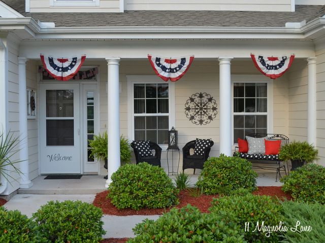 My Fourth Of July Front Porch 11 Magnolia Lane Front Porch Decorating Memorial Day Holiday Fourth Of July