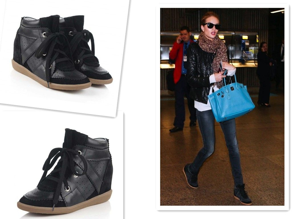 Isabel Marant Betty leather and suede sneakers 7S30FQBeOX