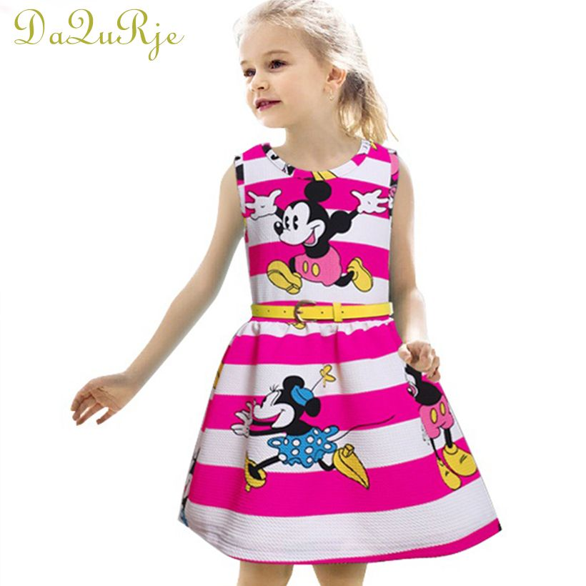 New Europe Brand 2017 summer girl dress kids clothes baby girls ...