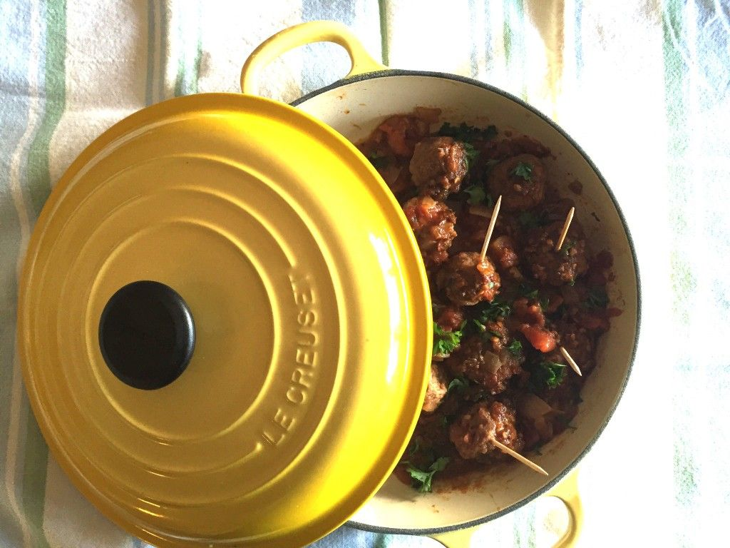 Your Braiser Makes A Good Stove To Table Vessel For Cooking And Serving These Moroccan Meatballs