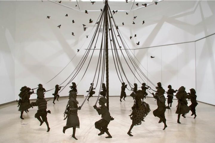 Wonderful Paper Sculpture of Children Playfully Dancing by Kristi Malakoff