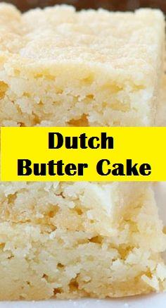 Dutch Butter Cake Recipe (Boterkoek) in 2020 Dutch