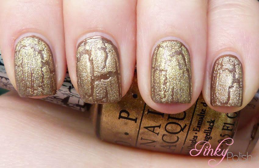 OPI Gold Shatter vs. China Glaze Tarnished Gold Crackle ...