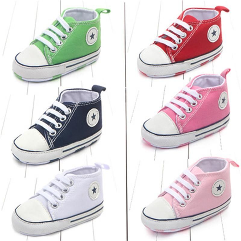 17a02770f4ce Newborn Infant Unisex Soft Sole Anti-Slip Classic Canvas Sporty Sneakers  Crib Shoes