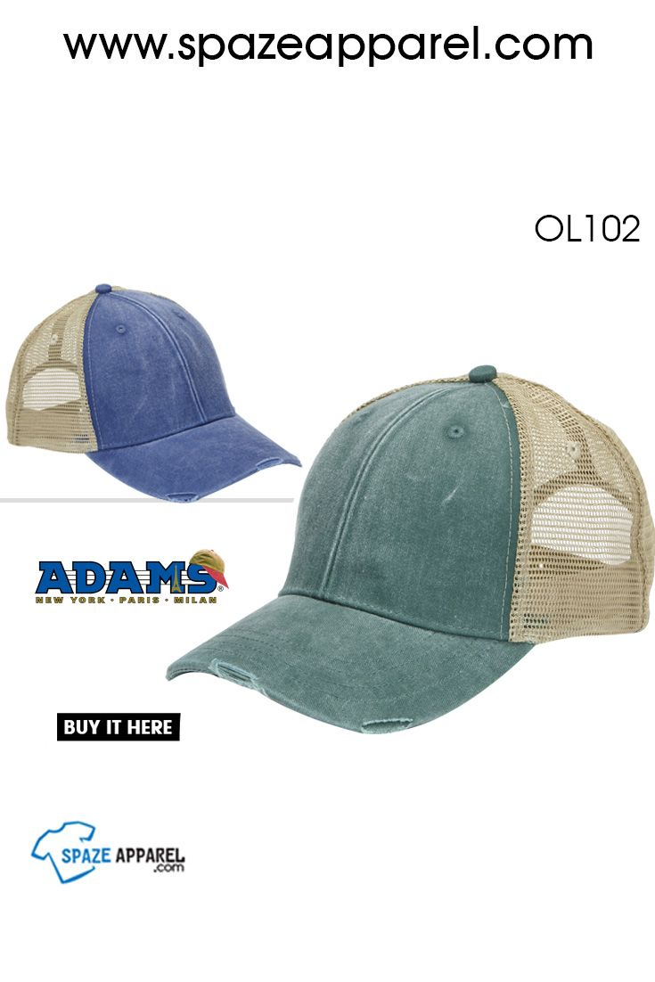 f4a234e30 hat #caps #headwear Adams-OL102-6-Panel Pigment-Dyed Distressed ...