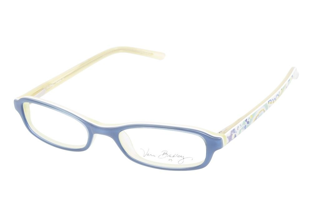 40d8e2abd7 Vera Bradley Frannie CBL Capri Blue eyeglasses are beautifully bright. This  cheerful acetate frame boasts a breezy blue exterior and vibrant pale green  ...
