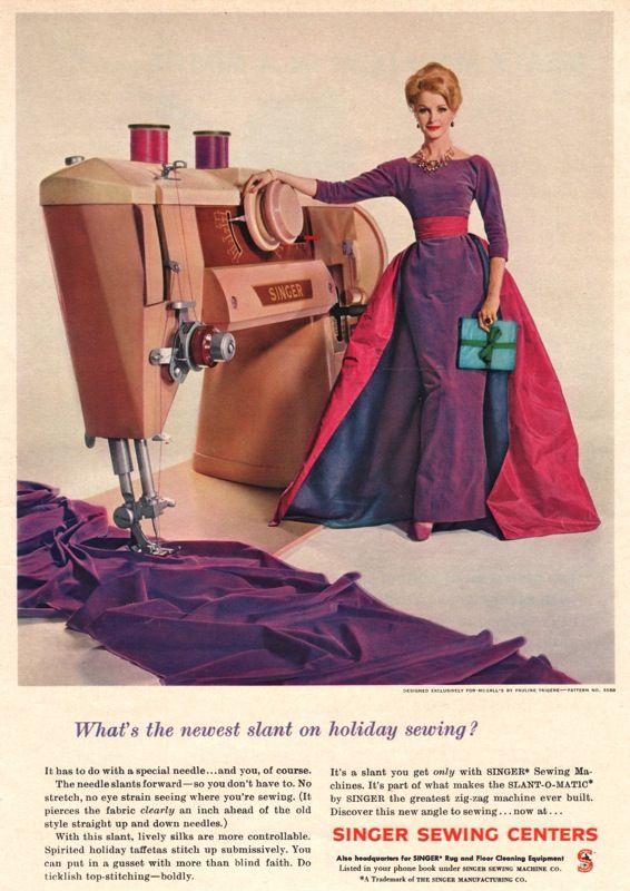 Singer Slant-O-Matic advertisement 1960