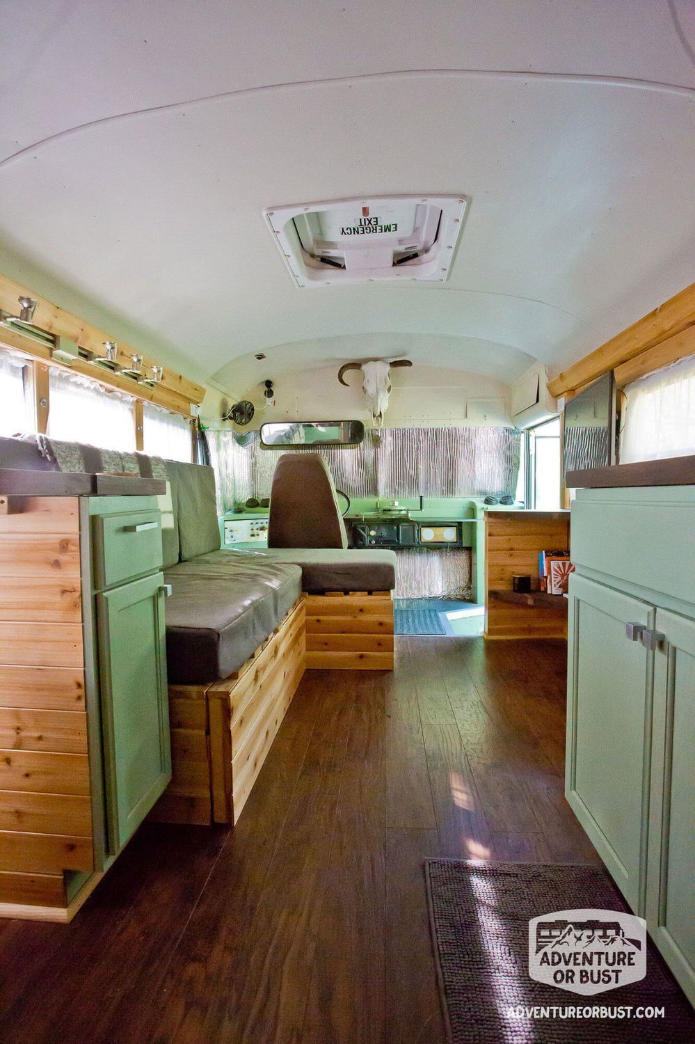 They Chose A Bus Conversion Over Traditional Tiny House Because It Would Cost Less