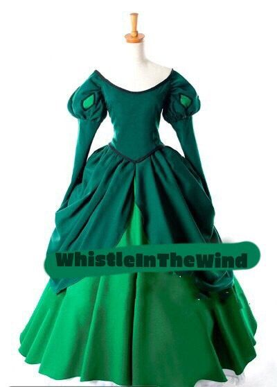 Adult Ariel Custom Made Green Dress The by WhistleInTheWind, £94.95