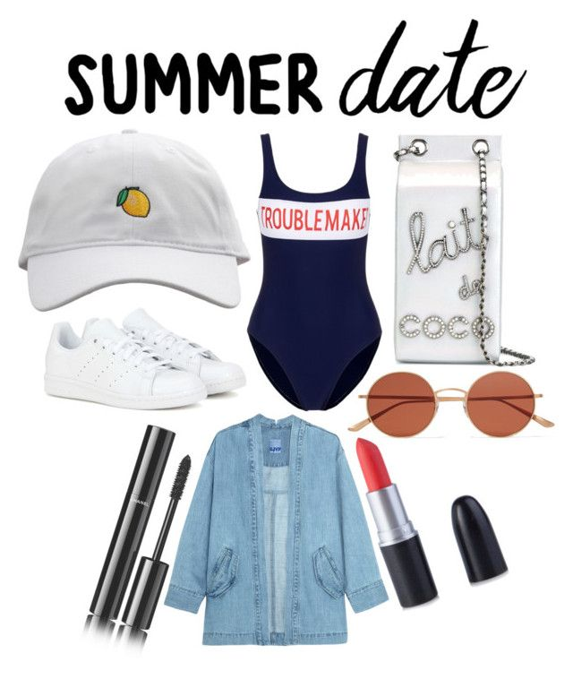 """""""chill summer"""" by aintnoloveydovey ❤ liked on Polyvore featuring Zoe Karssen, Chanel, adidas, Oliver Peoples, Steve J & Yoni P, beach and summerdate"""