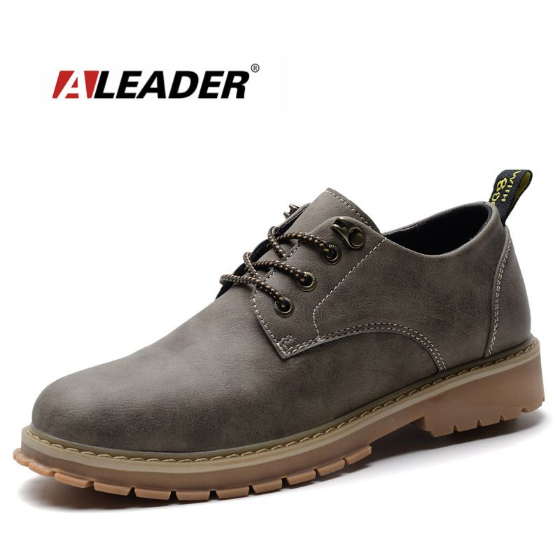 7b87ecd06 Aleader Autumn Fashion Mens Oxford Shoes Genuine Leather Casual Designer Shoes  Men Comfortable Black Oxfords Mesns Dress Shoes