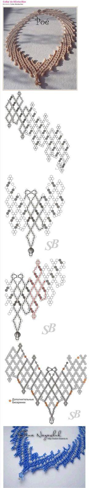 collar elegante perlen mit anleitung pinterest perlenkette schmuck und diy schmuck. Black Bedroom Furniture Sets. Home Design Ideas