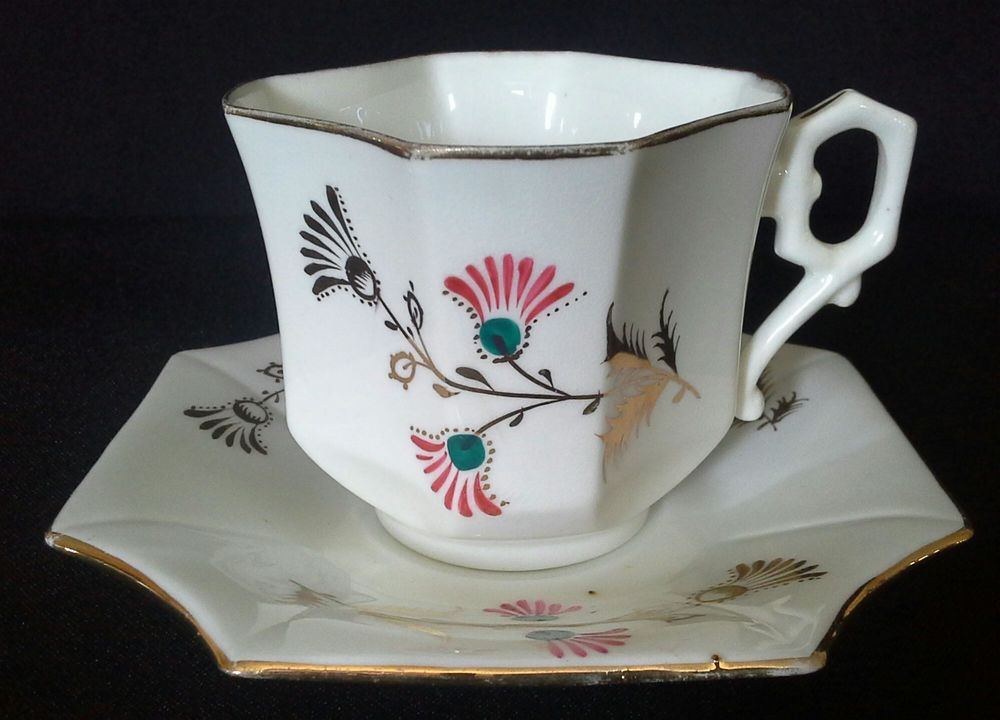 Wileman pre Shelley Thistle Cup and Saucer, #CupsSaucers