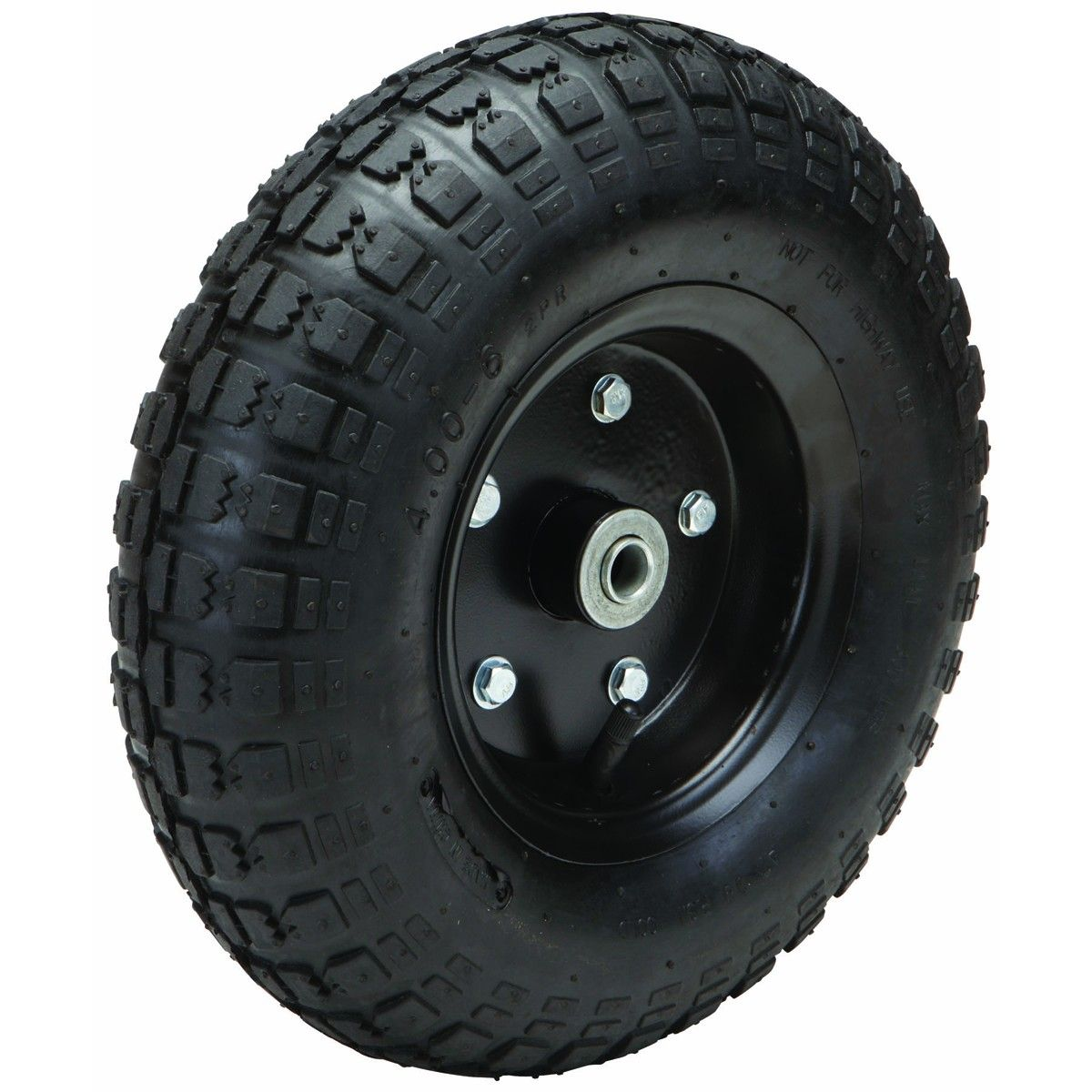 13 In Pneumatic Tire With Black Hub In 2020 Wagon Cart Black Steel Tire