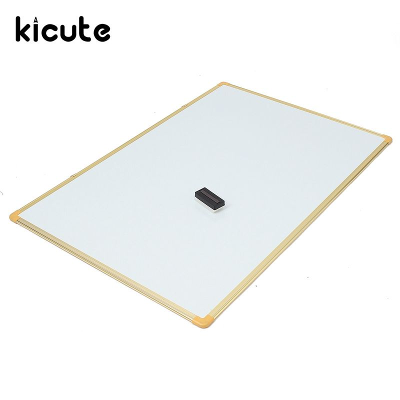 Kicute 1pc Lrge Size 800mm*1200mm Double Side Writing Whiteboard - notice memo