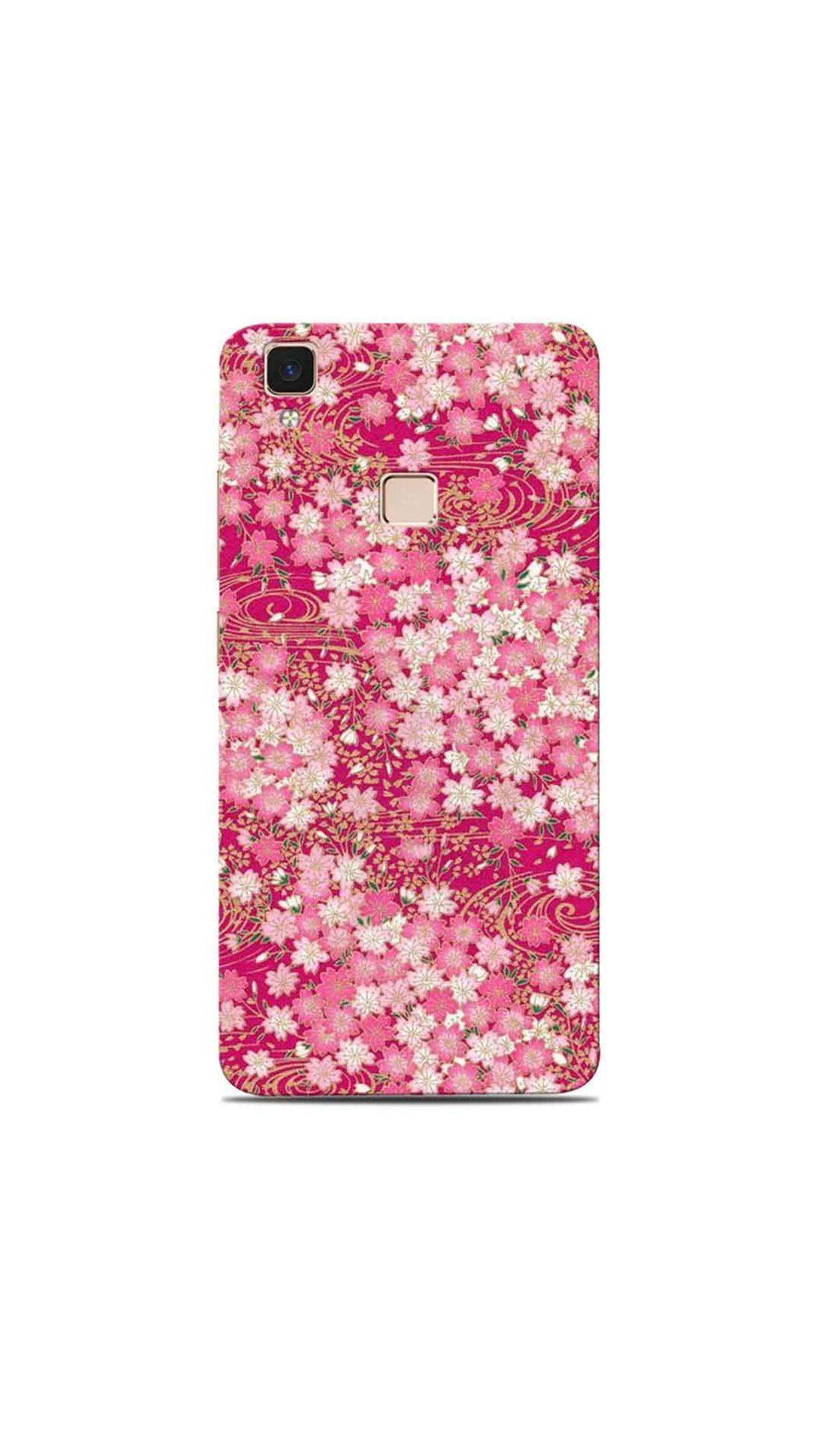 new arrival de004 23d3d Pink Floral Pattern Back Cover for Vivo V3 Max in 2019   Vivo Mobile ...
