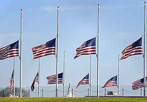 Image American Flags Fly At Half Staff At The Base Of The Washington Monument On Saturday C Mike Theiler Pictures Of America American Flags Flying Best Flags