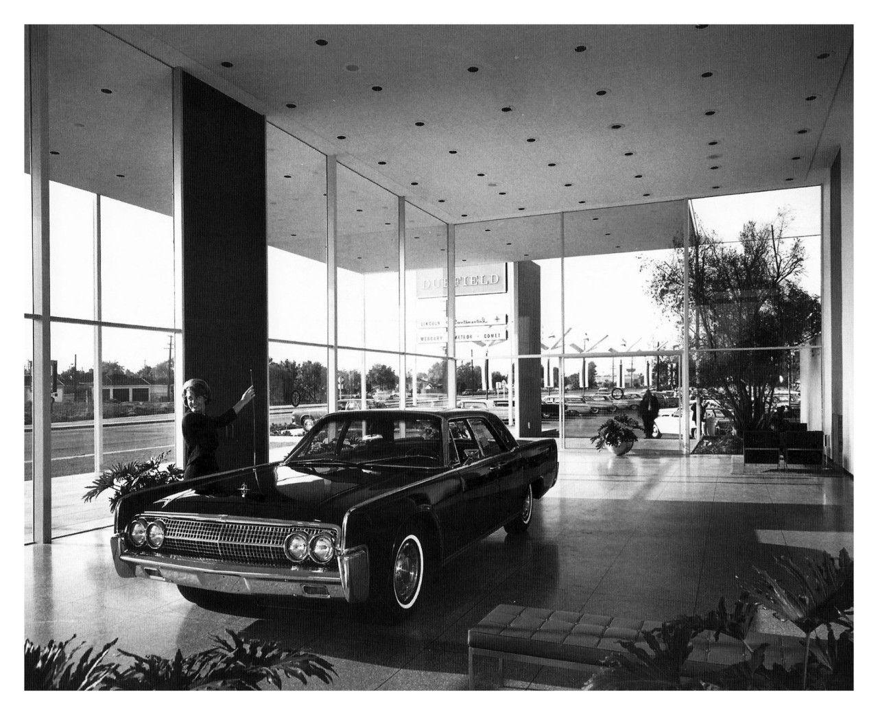 1963 Duffield Lincoln Mercury Dealership Showroom Long Beach