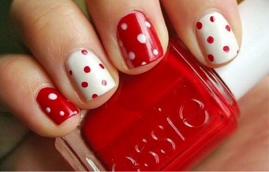 Polka dot nails!!!