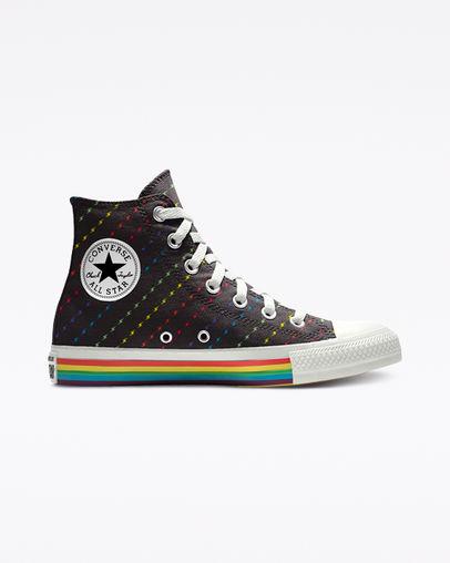 converse white & black all star pride hi trainers