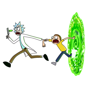 Rick And Morty Run Out Of The Portal Rick And Morty Stickers Rick And Morty Morty