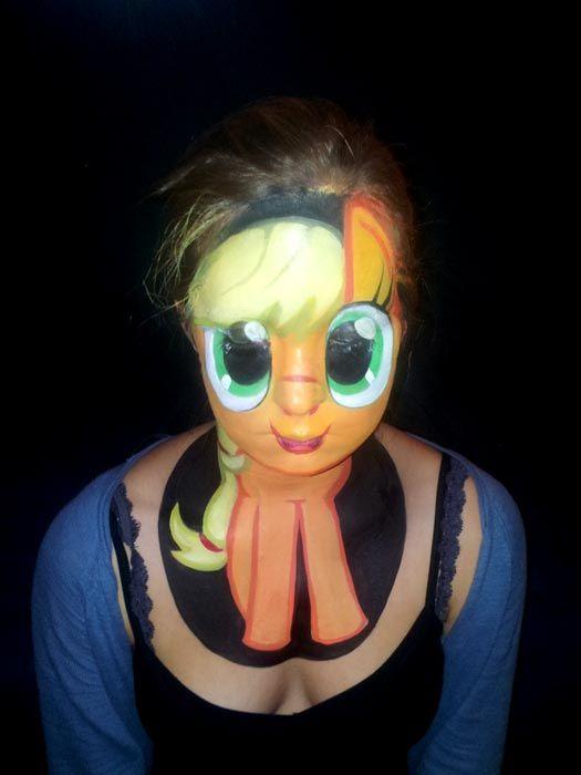 Little Pony Apple Jack Body Art/Paint, Makeup/Special FX, Creature - frozen halloween decorations