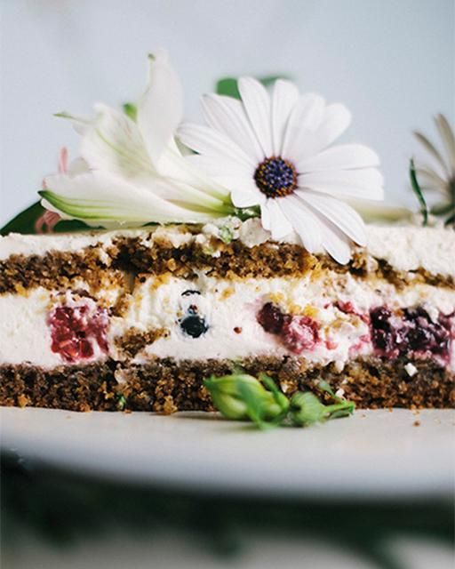 "My Happy Dish: Gluten-Free ""Any-Fruit"" Cake with Mascarpone Filling by Sylwia Kotlarz"