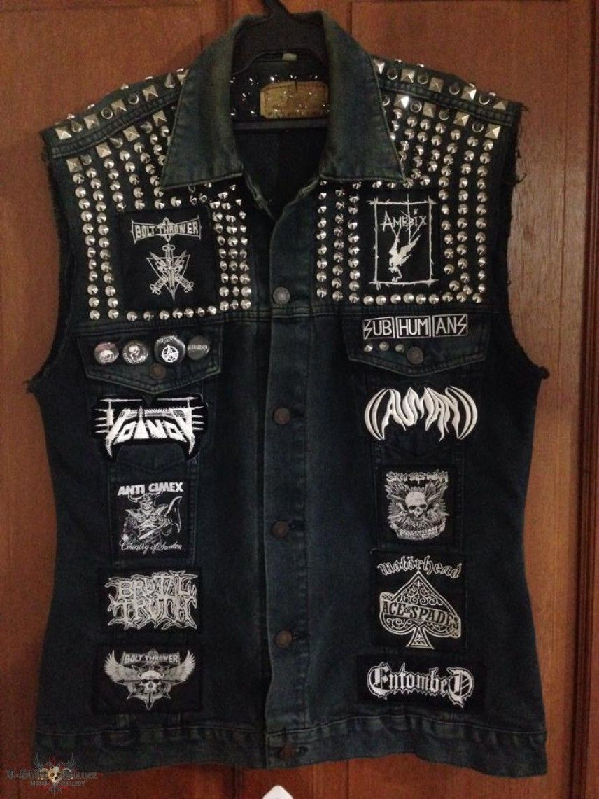 Battle Sickos's AmebixBolt ThrowerEntombedMetal Vest Bam Punk O80wNvmn