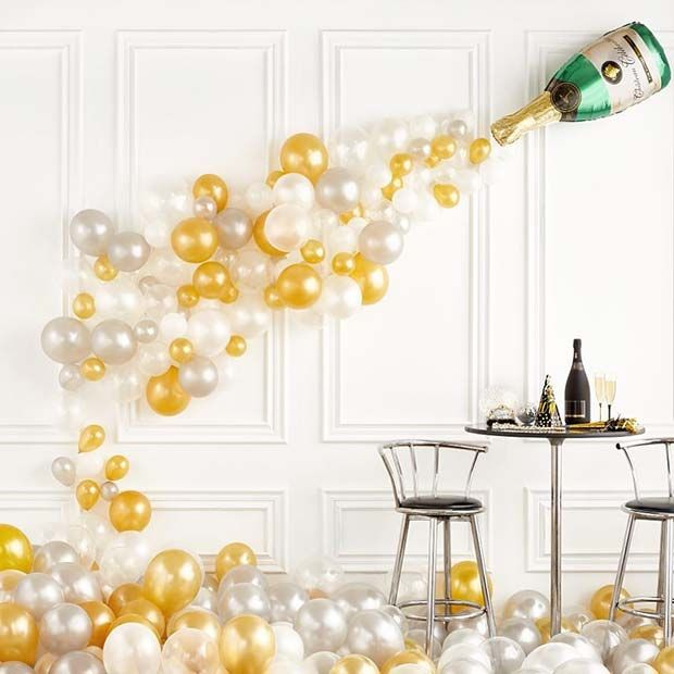 23 New Years Eve Party Ideas | Champagne bottles, Holidays and Party ...