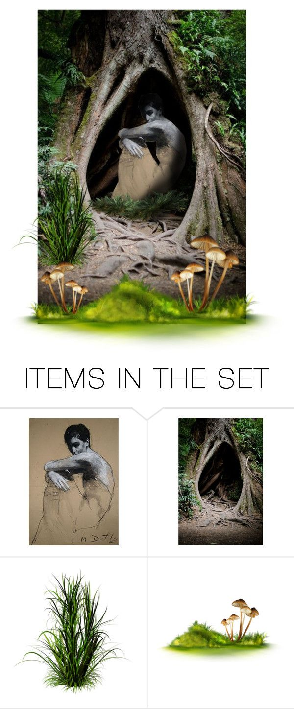 """""""The Hollow"""" by blue-eyes-7577 ❤ liked on Polyvore featuring art, forest, fantasy and tree"""