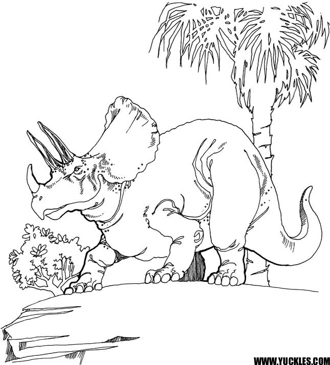 TRICERATOPS COLORING PAGE Dinosaur coloring pages