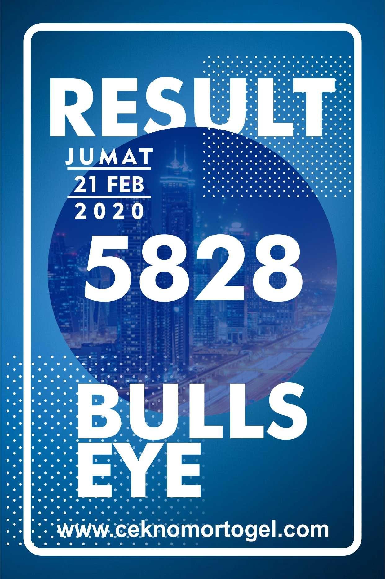 Result Bullseye Jumat 21 Februari 2020