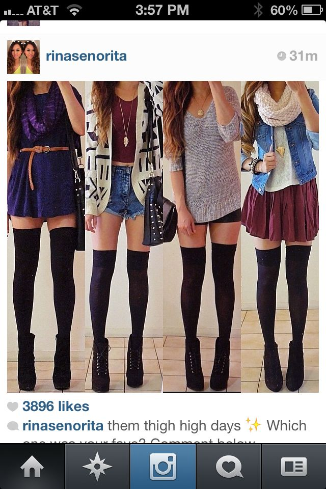 Stockings pantyhose teen model young girl