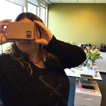 An awesome Virtual Reality pic! Nerd Alert!! Vi har netop fået vores Google Cardboard ind ad døren og @gglibstrup nørder nu med Virtual Reality.  Indtil videre er det blevet til en gåtur på Manhattan en dansetime på Cuba og en rejse ind i en virtuel hjerne.  Stay tuned for en upcoming blogpost  #strupstrup #brandjournalism #nerdalert #funwork #googlecardboard #virtualreality #funtimes #officewin by strupstrup check us out: http://bit.ly/1KyLetq